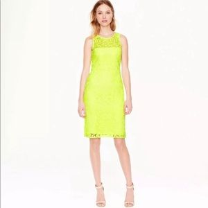 J. Crew Collection Neon Lace Dress